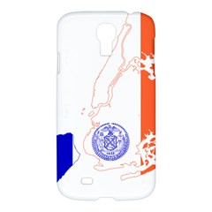Flag Map Of New York City Samsung Galaxy S4 I9500/i9505 Hardshell Case by abbeyz71