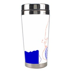 Flag Map Of New York City Stainless Steel Travel Tumblers by abbeyz71