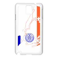 Flag Map Of New York City Samsung Galaxy Note 3 N9005 Case (white) by abbeyz71