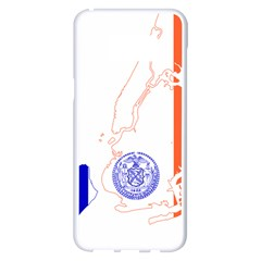 Flag Map Of New York City Samsung Galaxy S8 Plus White Seamless Case by abbeyz71