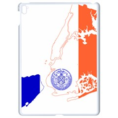 Flag Map Of New York City Apple Ipad Pro 9 7   White Seamless Case by abbeyz71