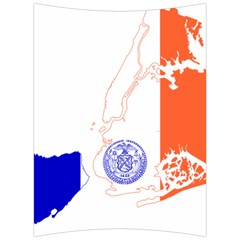 Flag Map Of New York City Back Support Cushion by abbeyz71
