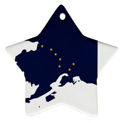 Flag Map Of Alaska Ornament (star) by abbeyz71
