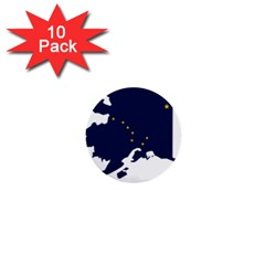 Flag Map Of Alaska 1  Mini Buttons (10 Pack)  by abbeyz71
