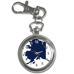 Flag Map Of Alaska Key Chain Watches
