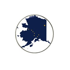 Flag Map Of Alaska Hat Clip Ball Marker (4 Pack) by abbeyz71