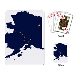 Flag Map Of Alaska Playing Cards Single Design by abbeyz71