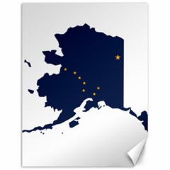 Flag Map Of Alaska Canvas 12  X 16  by abbeyz71