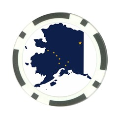 Flag Map Of Alaska Poker Chip Card Guard by abbeyz71