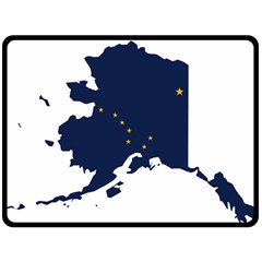 Flag Map Of Alaska Fleece Blanket (large)  by abbeyz71