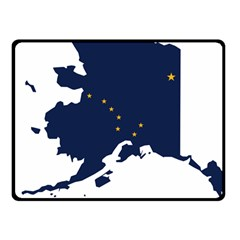 Flag Map Of Alaska Fleece Blanket (small) by abbeyz71