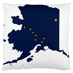 Flag Map Of Alaska Large Cushion Case (two Sides) by abbeyz71