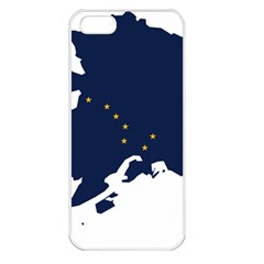 Flag Map Of Alaska Apple Iphone 5 Seamless Case (white) by abbeyz71