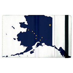 Flag Map Of Alaska Apple Ipad 2 Flip Case by abbeyz71