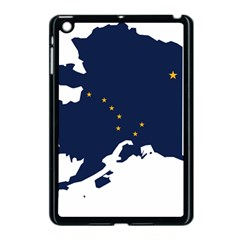 Flag Map Of Alaska Apple Ipad Mini Case (black) by abbeyz71