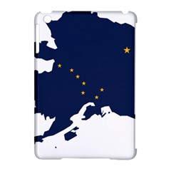 Flag Map Of Alaska Apple Ipad Mini Hardshell Case (compatible With Smart Cover) by abbeyz71
