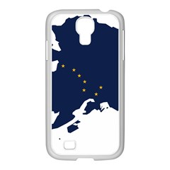 Flag Map Of Alaska Samsung Galaxy S4 I9500/ I9505 Case (white) by abbeyz71