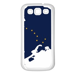 Flag Map Of Alaska Samsung Galaxy S3 Back Case (white) by abbeyz71