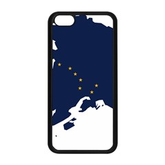Flag Map Of Alaska Apple Iphone 5c Seamless Case (black) by abbeyz71