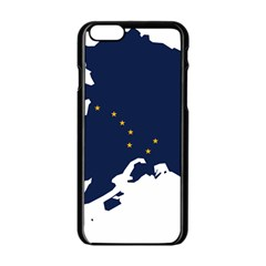 Flag Map Of Alaska Apple Iphone 6/6s Black Enamel Case by abbeyz71