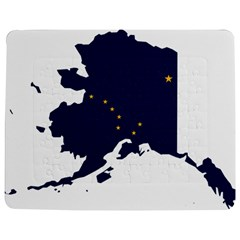 Flag Map Of Alaska Jigsaw Puzzle Photo Stand (rectangular) by abbeyz71