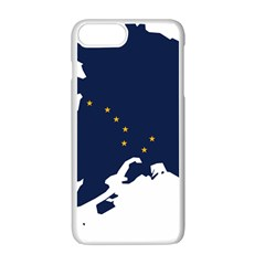 Flag Map Of Alaska Apple Iphone 7 Plus Seamless Case (white) by abbeyz71