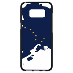Flag Map Of Alaska Samsung Galaxy S8 Black Seamless Case by abbeyz71