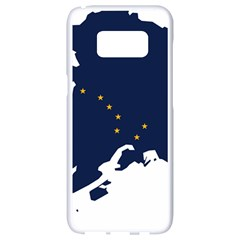Flag Map Of Alaska Samsung Galaxy S8 White Seamless Case by abbeyz71