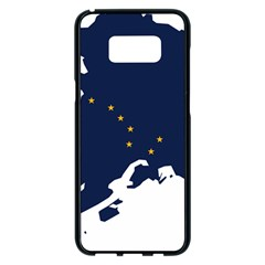 Flag Map Of Alaska Samsung Galaxy S8 Plus Black Seamless Case by abbeyz71