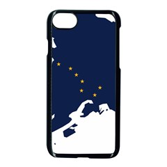 Flag Map Of Alaska Apple Iphone 8 Seamless Case (black) by abbeyz71
