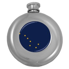 Flag Of Alaska Round Hip Flask (5 Oz) by abbeyz71