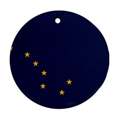 Flag Of Alaska Round Ornament (two Sides)