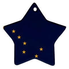 Flag Of Alaska Star Ornament (two Sides) by abbeyz71