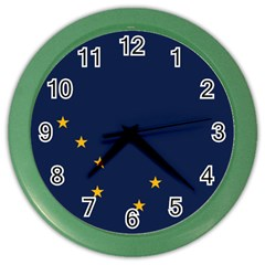 Flag Of Alaska Color Wall Clock by abbeyz71