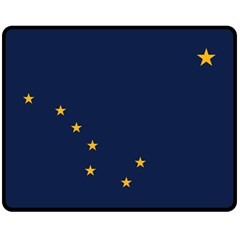 Flag Of Alaska Double Sided Fleece Blanket (medium)