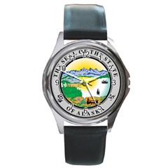 State Seal Of Alaska  Round Metal Watch by abbeyz71