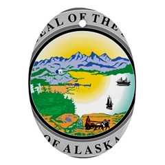 State Seal Of Alaska  Ornament (oval) by abbeyz71