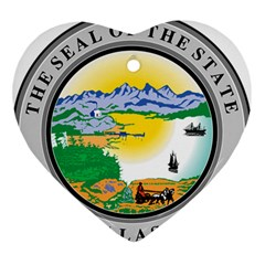 State Seal Of Alaska  Ornament (heart)