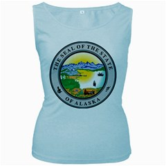 State Seal Of Alaska  Women s Baby Blue Tank Top by abbeyz71