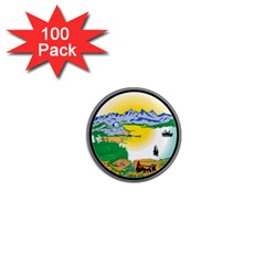 State Seal Of Alaska  1  Mini Magnets (100 Pack)
