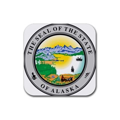 State Seal Of Alaska  Rubber Square Coaster (4 Pack)