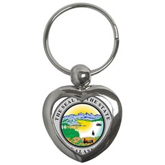 State Seal Of Alaska  Key Chains (heart)