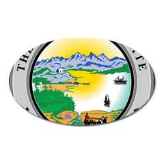State Seal Of Alaska  Oval Magnet by abbeyz71
