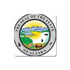 State Seal Of Alaska  Square Magnet