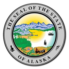 State Seal Of Alaska  Magnet 5  (round) by abbeyz71