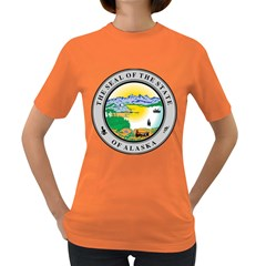 State Seal Of Alaska  Women s Dark T Shirt