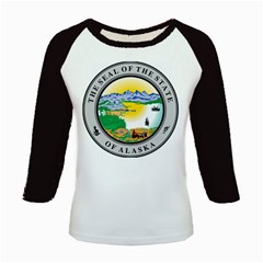 State Seal Of Alaska  Kids Baseball Jerseys
