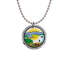 State Seal Of Alaska  Button Necklaces