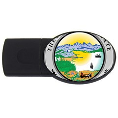 State Seal Of Alaska  Usb Flash Drive Oval (4 Gb)
