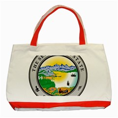 State Seal Of Alaska  Classic Tote Bag (red)